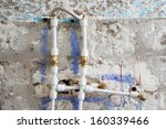 Renovation work in the plumbing system of a house. - stock photo