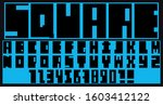 wide font of straight lines. a... | Shutterstock .eps vector #1603412122