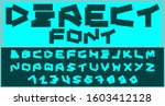 a wide the fine print assembled ... | Shutterstock .eps vector #1603412128