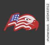 eagle head shape from america... | Shutterstock .eps vector #1603433512