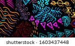 ethnic fabric. multicolor... | Shutterstock . vector #1603437448
