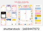 collection of weekly or daily... | Shutterstock .eps vector #1603447072