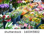 Flower Market With Various...