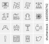 16 universal business icons... | Shutterstock .eps vector #1603500742