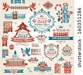 set of christmas decorative... | Shutterstock .eps vector #160351286