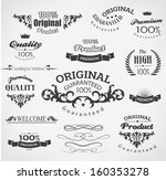vintage calligraphy  decoration ... | Shutterstock .eps vector #160353278