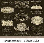 calligraphic design elements... | Shutterstock .eps vector #160353665