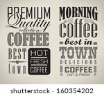 set of coffee   cafe label set