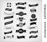 retro ribbons and labels.... | Shutterstock .eps vector #160354826