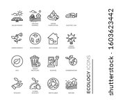 simple set of ecology related... | Shutterstock .eps vector #1603623442