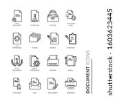 simple set of document related... | Shutterstock .eps vector #1603623445