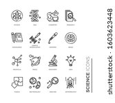 simple set of science related... | Shutterstock .eps vector #1603623448