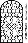 forged fence. gothic door ... | Shutterstock .eps vector #1603623868