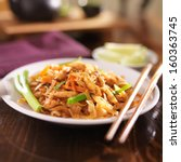 pad thai with chicken dish | Shutterstock . vector #160363745