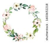 wreath  floral frame ... | Shutterstock . vector #1603652218