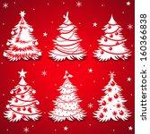 vector christmas trees | Shutterstock .eps vector #160366838