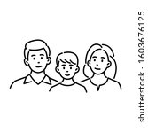 happy young family of three.... | Shutterstock .eps vector #1603676125