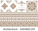 set of decorative design...   Shutterstock .eps vector #1603681135