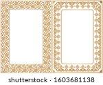 set of decorative design...   Shutterstock .eps vector #1603681138