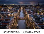 Amsterdam City Canals At Night...