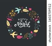 happy nowruz text  iranian new...   Shutterstock .eps vector #1603709512