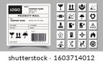 barcode label delivery template.... | Shutterstock .eps vector #1603714012