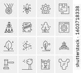 16 universal business icons... | Shutterstock .eps vector #1603718338