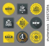 promo badges and labels. eps10. | Shutterstock .eps vector #160372856
