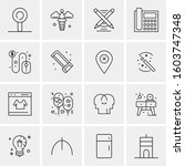 16 universal business icons... | Shutterstock .eps vector #1603747348