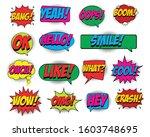 comic speech bubbles set on... | Shutterstock .eps vector #1603748695