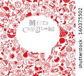 seamless christmas pattern | Shutterstock .eps vector #160375502