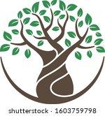 tree abstract  logo  | Shutterstock .eps vector #1603759798