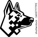 shepherd dog head technology    Shutterstock .eps vector #1603777795