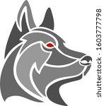 shepherd dog head abstract    Shutterstock .eps vector #1603777798