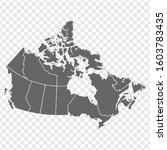 blank map of canada. high... | Shutterstock .eps vector #1603783435