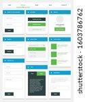 flat design web ui elements