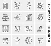 16 universal business icons...   Shutterstock .eps vector #1603828945