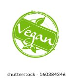 """vegan"" green round rubber... 