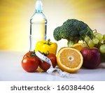 vitamin and fitness diet ... | Shutterstock . vector #160384406