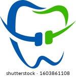 orthodontic dentist logo    Shutterstock .eps vector #1603861108