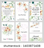set of hand drawn vector cards... | Shutterstock .eps vector #1603871608