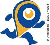 marker run logo   Shutterstock .eps vector #1603874095