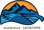mountains  lakes and docks in...   Shutterstock .eps vector #1603874098