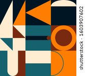 abstract mosaic artwork design... | Shutterstock .eps vector #1603907602
