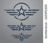 abstract grunge military star... | Shutterstock .eps vector #160392305