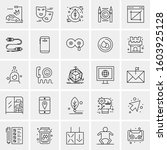 set of 25 universal business... | Shutterstock .eps vector #1603925128