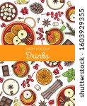 hot drinks for design. mulled...   Shutterstock .eps vector #1603929355