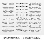 variety of decorative ornaments ...   Shutterstock .eps vector #1603943332