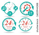 24 7 service icons set. buttons ...   Shutterstock .eps vector #1603944388
