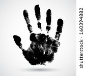 print of hand of child  cute... | Shutterstock .eps vector #160394882